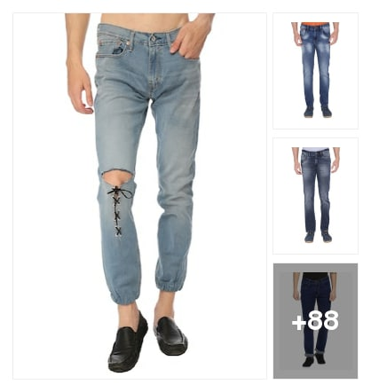 Jeans Collotions For Men. Online shopping look by Surendra