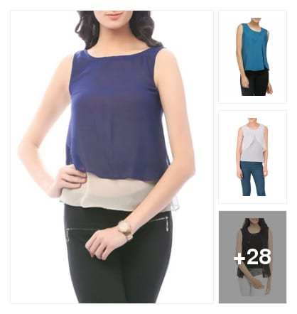 Layered Tops. Online shopping look by Jyoti