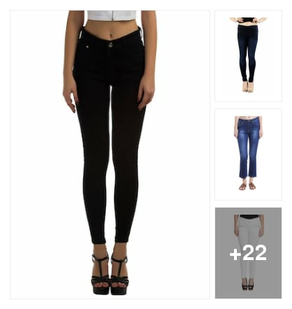 Jeans and jeggings for. Online shopping look by sujatha