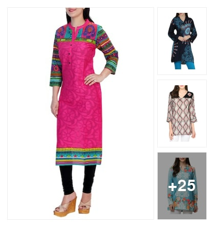 Colour ful kurthis. Online shopping look by Krishna