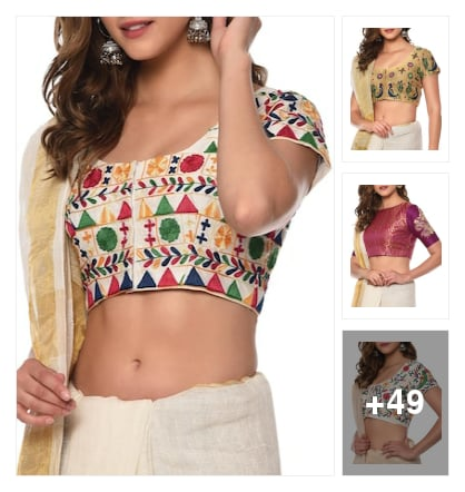 Nice brocade pretty blouse and buaty woman's. Online shopping look by vinod