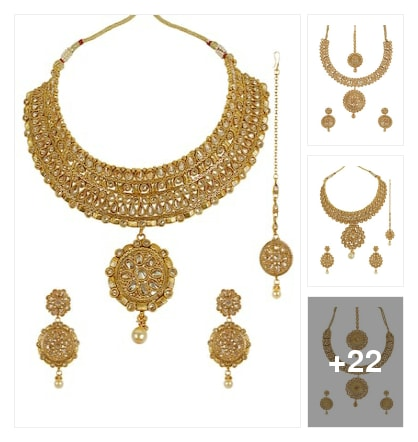 Gold-plated Jewelry For Festival. Online shopping look by Sri