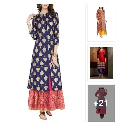 Pretty Kurtas collection . Online shopping look by Ramaprasad