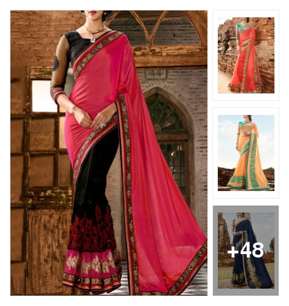 Festive Sarees. Online shopping look by Sohini