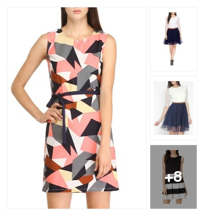 Awesome mini dress. Online shopping look by Rajni