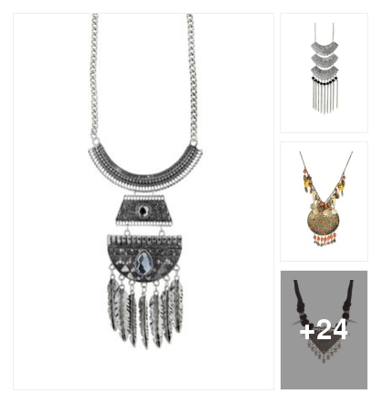 Tribal Necklaces . Online shopping look by kavita