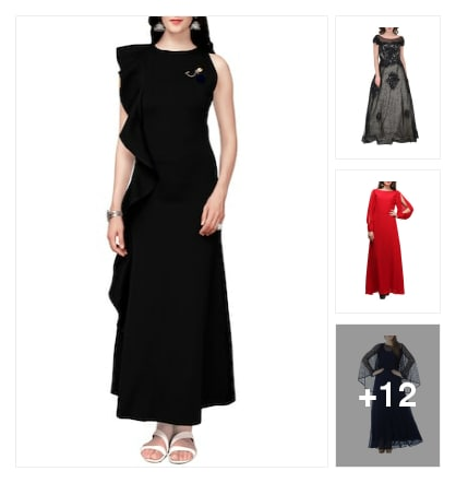 Gorgeous partywear dresses 👗. Online shopping look by meenu