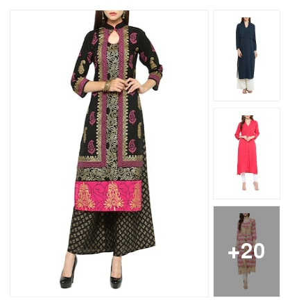 On trend kurtas. Online shopping look by Nikita