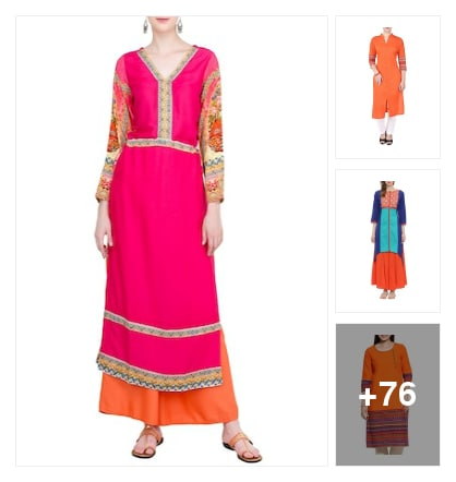 For Brightful Festivals- Brightest Kurtas . Online shopping look by kavita