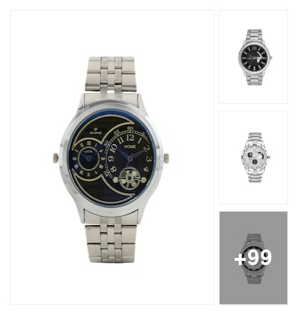 Mens Watches in Silver - Under Rs.499 . Online shopping look by kavita