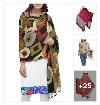 Shawls. Online shopping look by keerthi