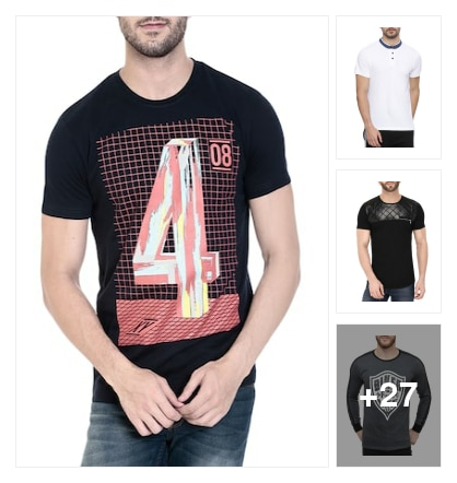 T-shirts to style with. Online shopping look by jyoti