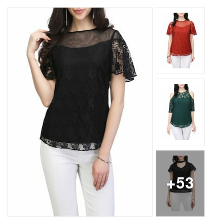Lace top for regular pretty girls. Online shopping look by vinod