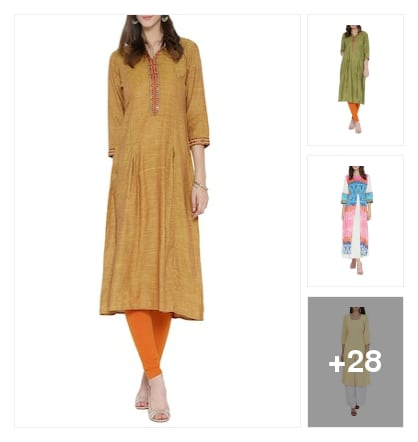 Solid Kurtis for pretty girls. Online shopping look by Chennamma