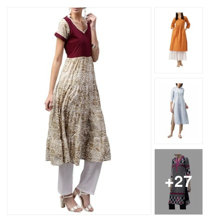 #lovely libas kurta style. Online shopping look by Kriti
