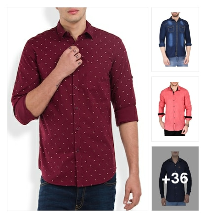 Festive Price Drop On Shirts. Online shopping look by Sri