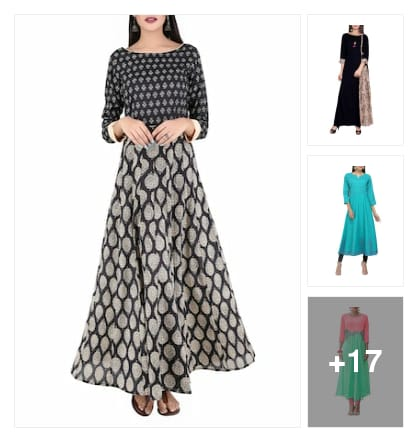 @flared style kuri. Online shopping look by sadhana