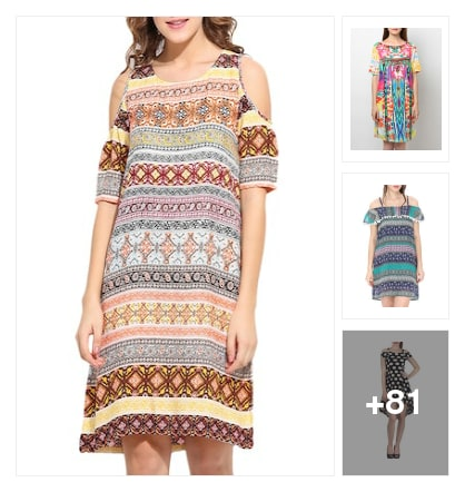 Beautiful colourful dresses 4u. Online shopping look by ❤️ Manu