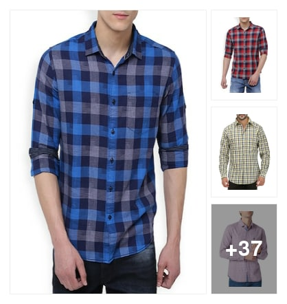 Checked shirts for men. Online shopping look by Lucky