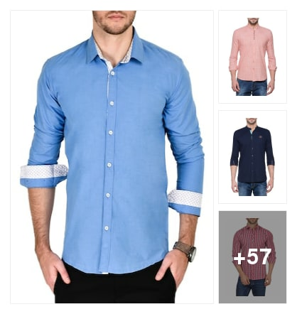 Office Wear Shirts For Men. Online shopping look by VC