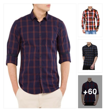 Dazzling fresh products for beautiful check shirt. Online shopping look by chinni