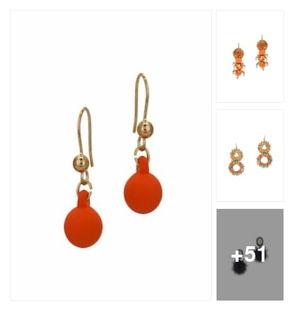 Stylish earrings collection . Online shopping look by konda