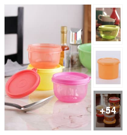 Tupperware Containers. Online shopping look by hashwitha
