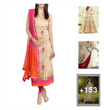 Shop this designer collection of dress materials for every occasion. Online shopping look by Sohini