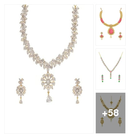 Neck Piece Collections❤ . Online shopping look by 💚❤Padmini❤💚