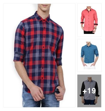 Cotton Casual Shirts For Mens . Online shopping look by AmarGupta