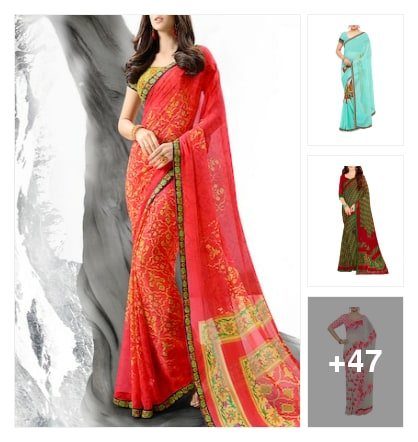 Regular wear sarees under999rs. Online shopping look by A.radha