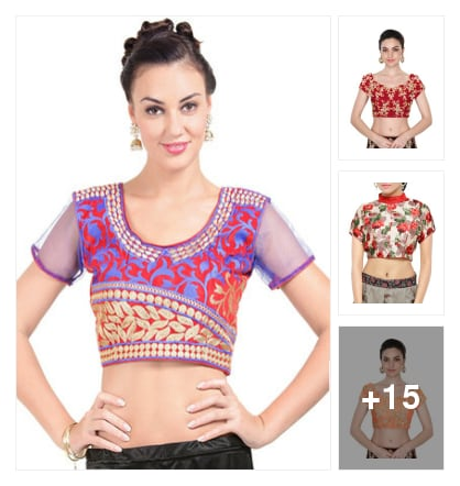 BLOUSES: ETHNIC FEELS. Online shopping look by Harika