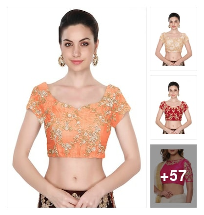 60 embroidery blouses . Online shopping look by chanchal