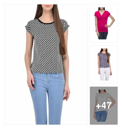 50 tops. Online shopping look by Teju