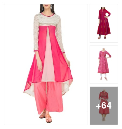 #festive wear kurta collection by zoeyam's. Online shopping look by Kriti