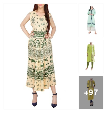 Stylishhh kurtas. Online shopping look by jyoti