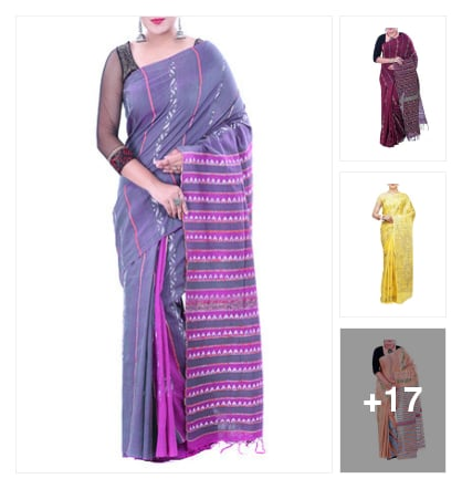 Kantha work saree. Online shopping look by sadhana