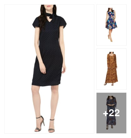 dresses for you. Online shopping look by rishi
