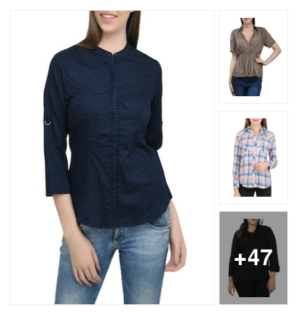 Shirts with all sizes. Online shopping look by Teju