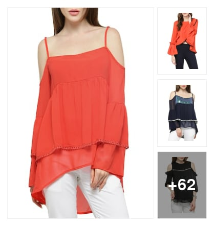 Pop Coloured Tops. Online shopping look by sapna