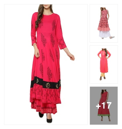 pink kurta book. Online shopping look by r