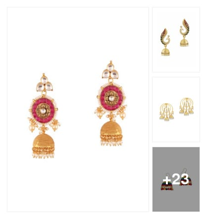 Earings. Online shopping look by keerthi