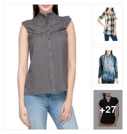 Cotton shirts. Online shopping look by keerthi
