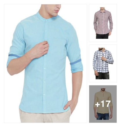 Shirts for men. Online shopping look by sanjana