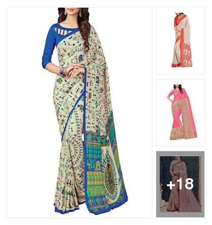 Fancy sarees for women. Online shopping look by sanjana