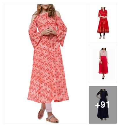 Red Color Is. Online shopping look by Surendra