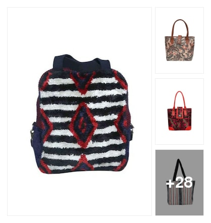 Printed Hand Bags. Online shopping look by thanmayee
