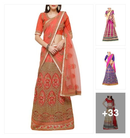 lovely lehangas. Online shopping look by Tejaswi