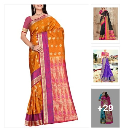 marvelous sarees. Online shopping look by Tejaswi
