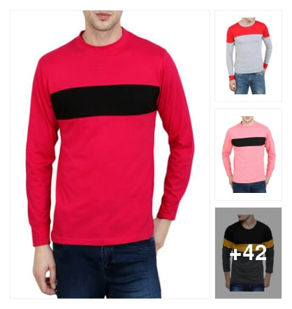 Premium t-shirts for men. Online shopping look by suresh